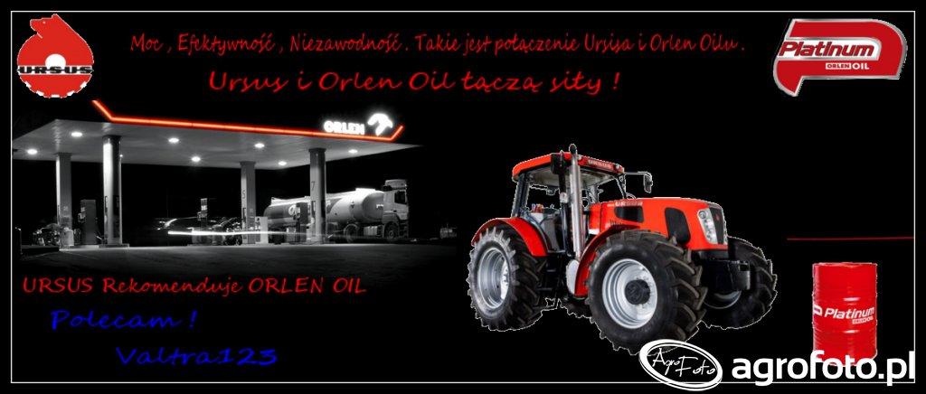 Moc , Efektywność , Niezawodność . Takie jest połączenie Ursusa i Orlen Oil . Ursus i Orlen Oil łączą siły ! URSUS Rekomenduje ORLEN OIL Polecam Valtra123