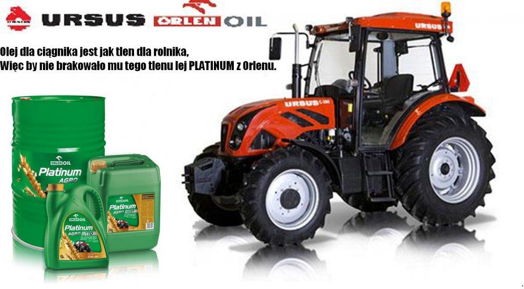 Olej dla ciągnika jest jak tlen dla ciągnika, więc by nie brakowało mu tego tlenu lej PLATINUM z Orlenu.