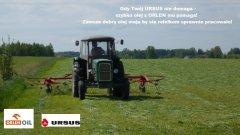 Gdy Twój URSUS nie domaga - szybko olej z ORLEN mu pomaga! Zawsze dobry olej mają by się rolnikom sprawnie pracowało!