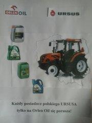 Każdy posiadacz polskiego URSUSA tylko na Orlen Oil się porusza!