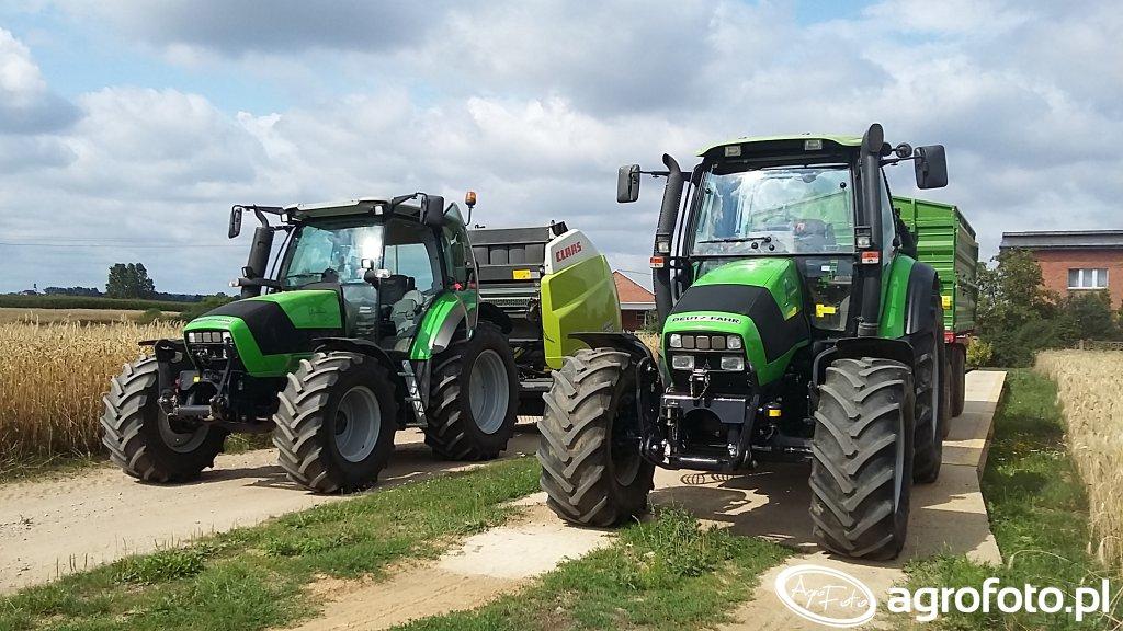 Deutz-Fahr Agrotron 150 Pronar 672/2 & Agrotron K420 Claas Variant 380