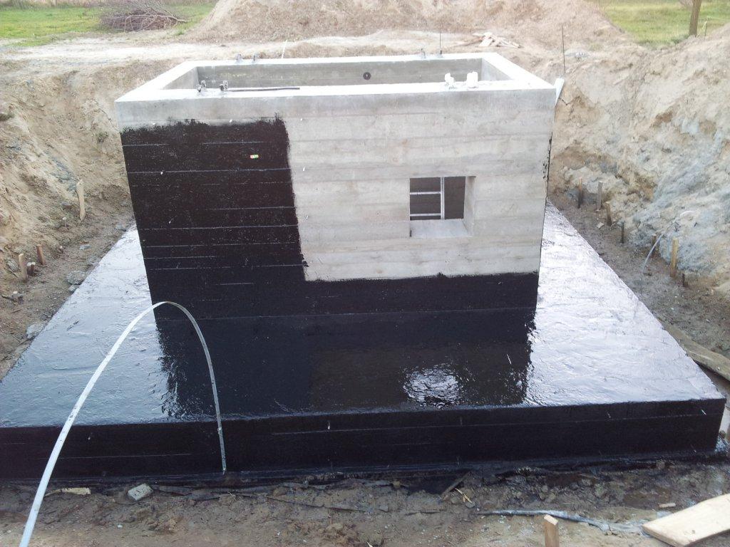 Fundament pod wieże z podajnikiem kubełkowym