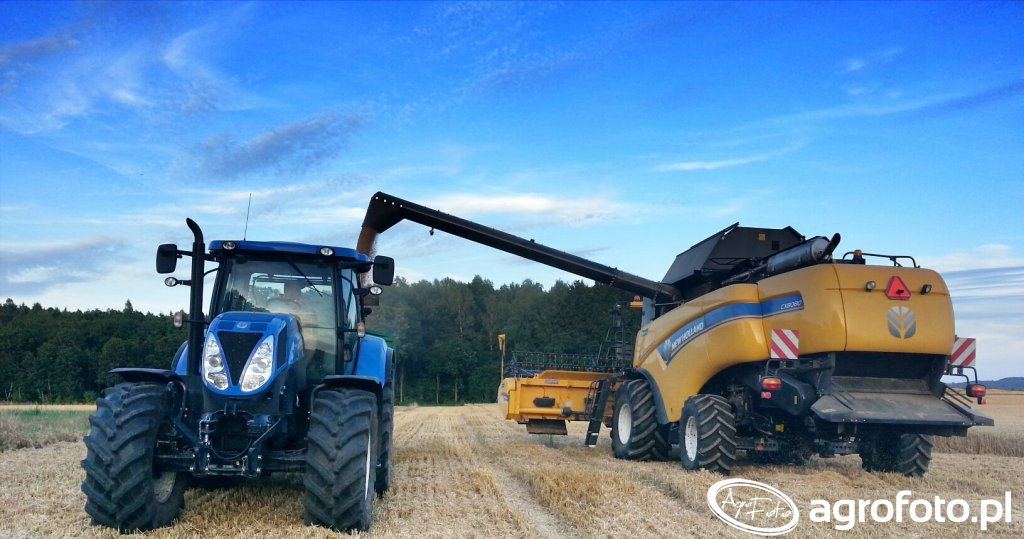 New Holland CX8080 + T7.185