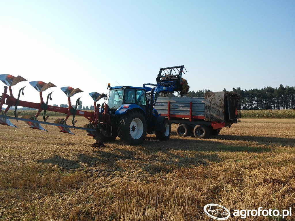 New Holland T5.105 + Kverneland LD 100, Pronar 82sa + Cynkomet 8