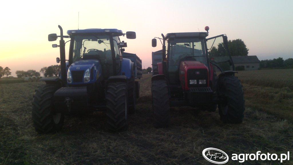 New Holland t6050 & Massey Ferguson 4360
