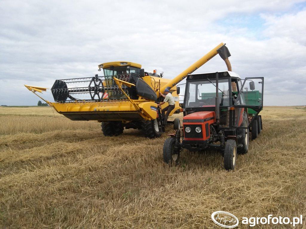 New Holland TC5040 & Zetor 7211 &  Autostan D47