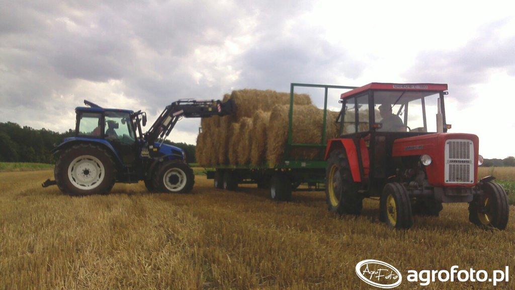 Zwożenie bel 2015 Ursus C-360\u0026Pronar T-023, New Holland T5050