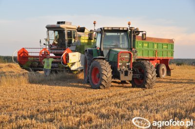 Fendt 514C & Claas Dominator 66