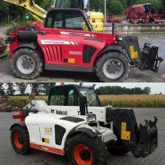 Bobcat T2250 i Massey Ferguson 9205