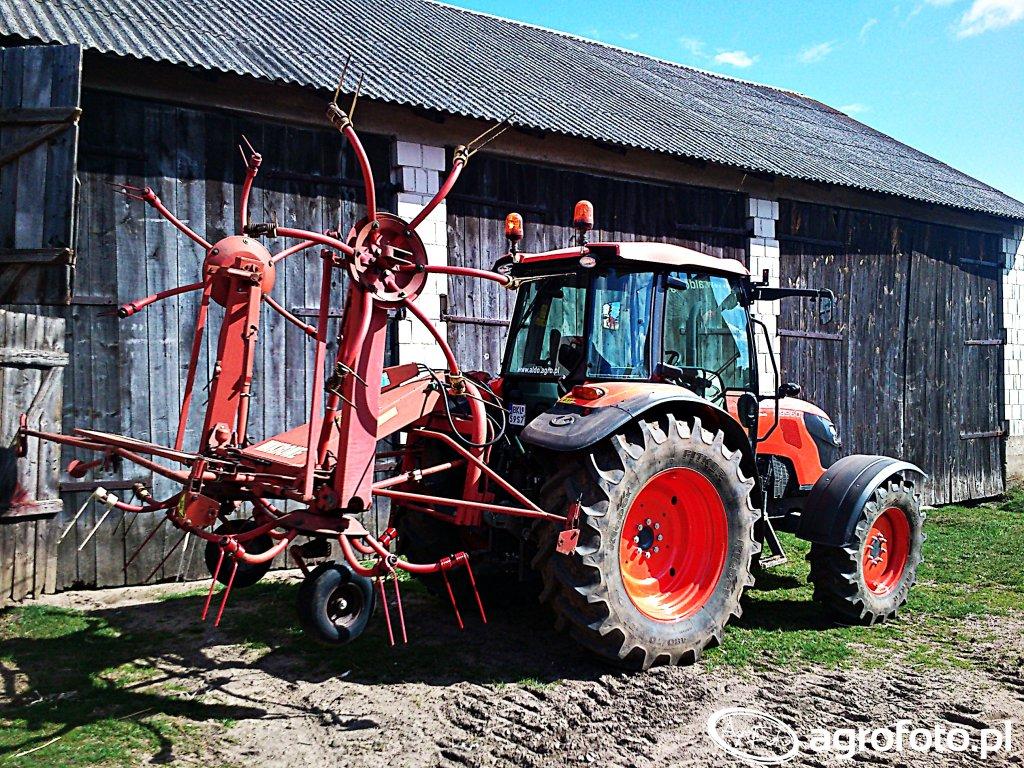 Kubota M9960 & Krone KW 5.50