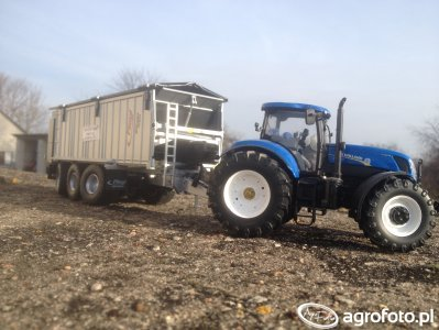 New Holland T7.270 + Fliegl ASW 391