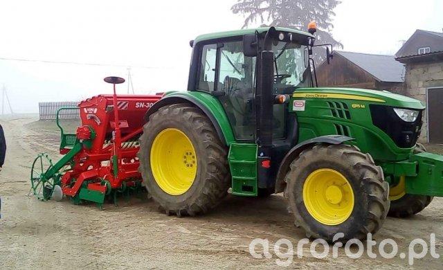 John Deere 6115M & agromasz SN 300