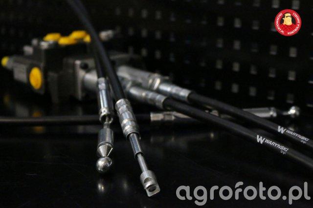 Linki do sterowania rozdzielaczem hydraulicznym firmy Waryński