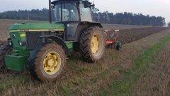 John Deere 3050 + pług Kverneland