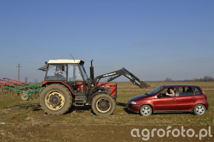 Fiat Punto i Zetor 7245