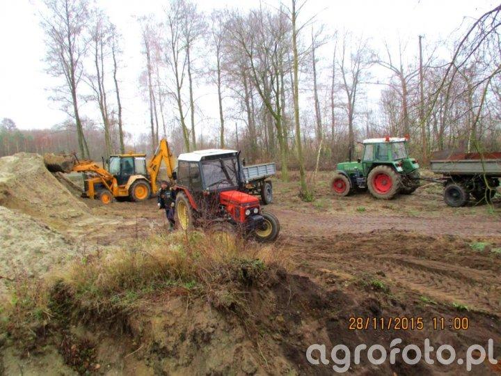 Fendt Farmer 306 LSA i HL 60.11 + Zetor 7711 i D-47 +koparka MF