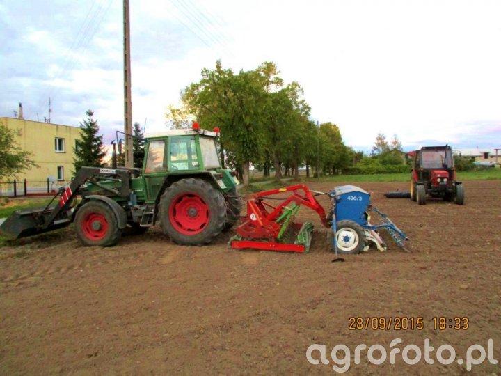 Fendt Farmer 306 LSA i Mailleux + Rolmasz Ares L/S i Rolmasz Polonez S078  & Zetor 7711 + Wał Dal-bo
