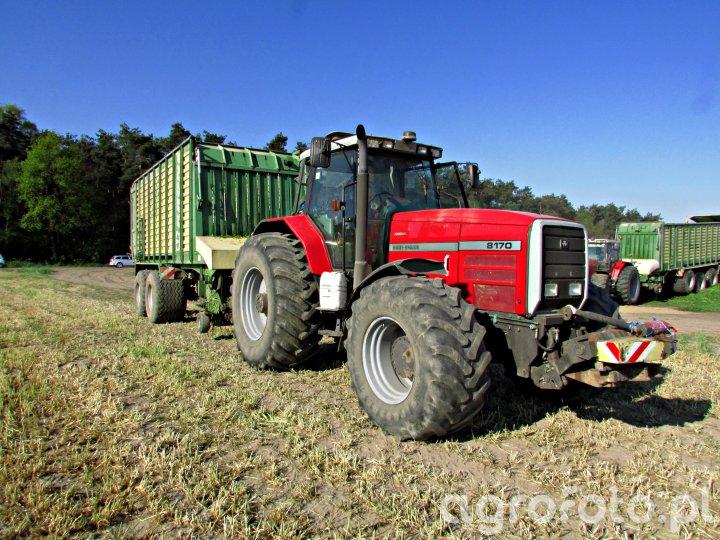 Messey Ferguson 8170 & Krone ZX 450 GD