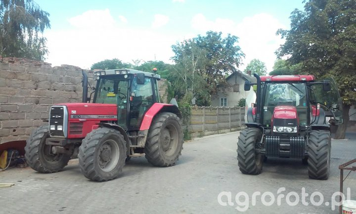 MF 8110 i Case Maxxum 125