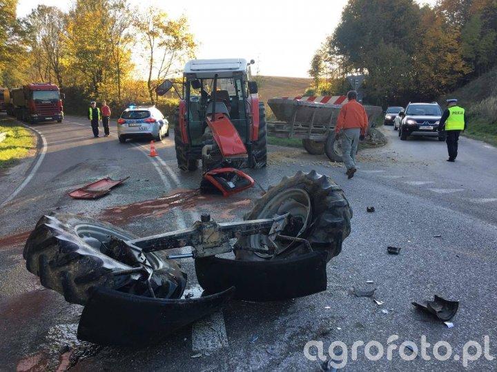 Wypadek koło Klimontowa