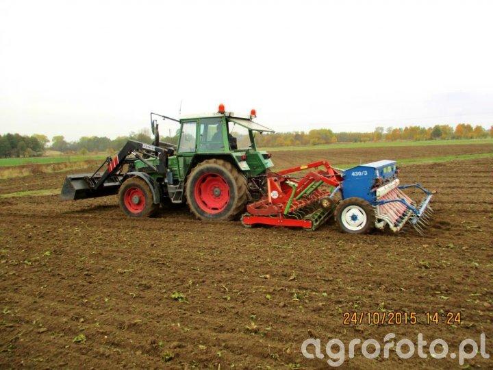 Fendt Farmer 306 LSA i Mailleux + Rolmasz Ares L/S i Rolmasz Polonez S078