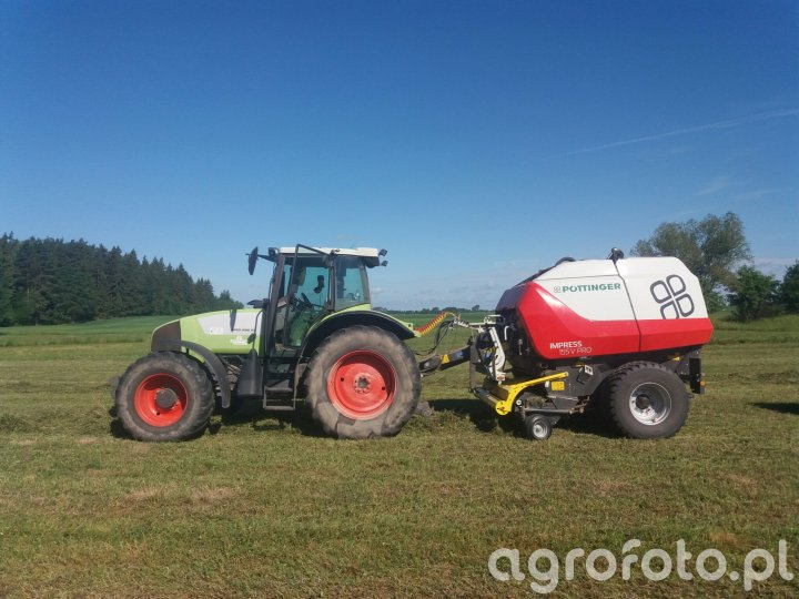 Pottinger i Claas Ares 696