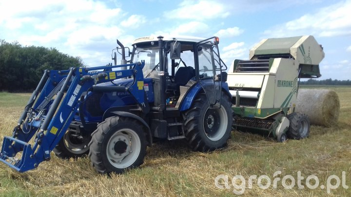 Farmtrac 675DT & Krone KR 8-16