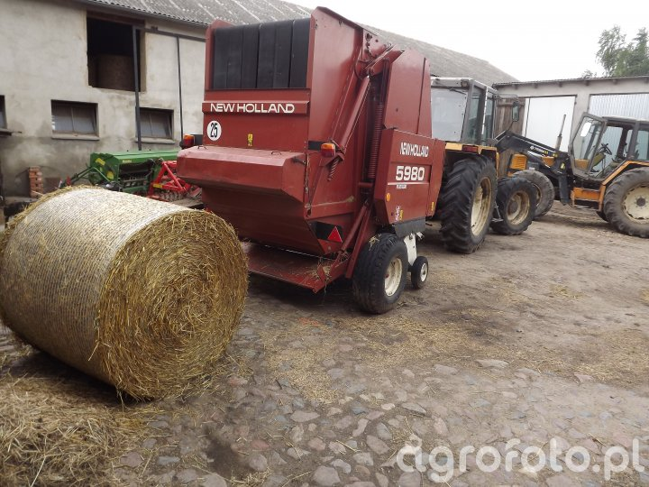 New Holland 5980 + Renault 110-54