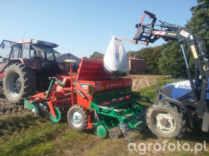 Case 5130 + Agromasz SR300&AT300ni Farmtrac 555 dt.