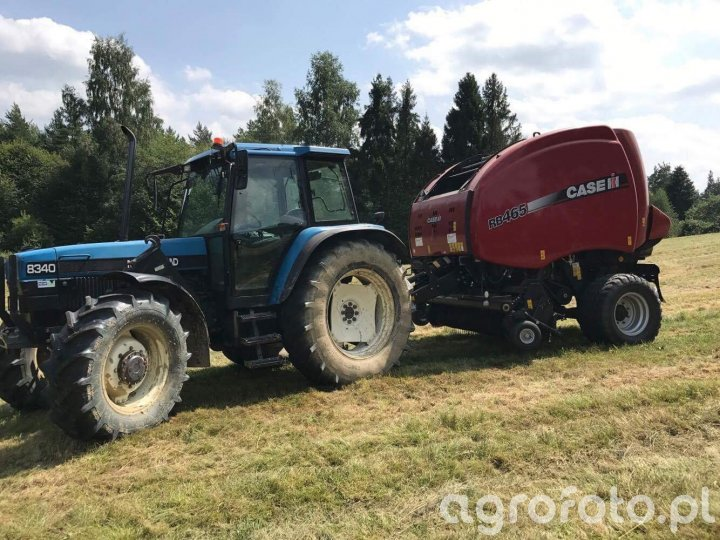 Ford New Holland 8340 + Case Rb465
