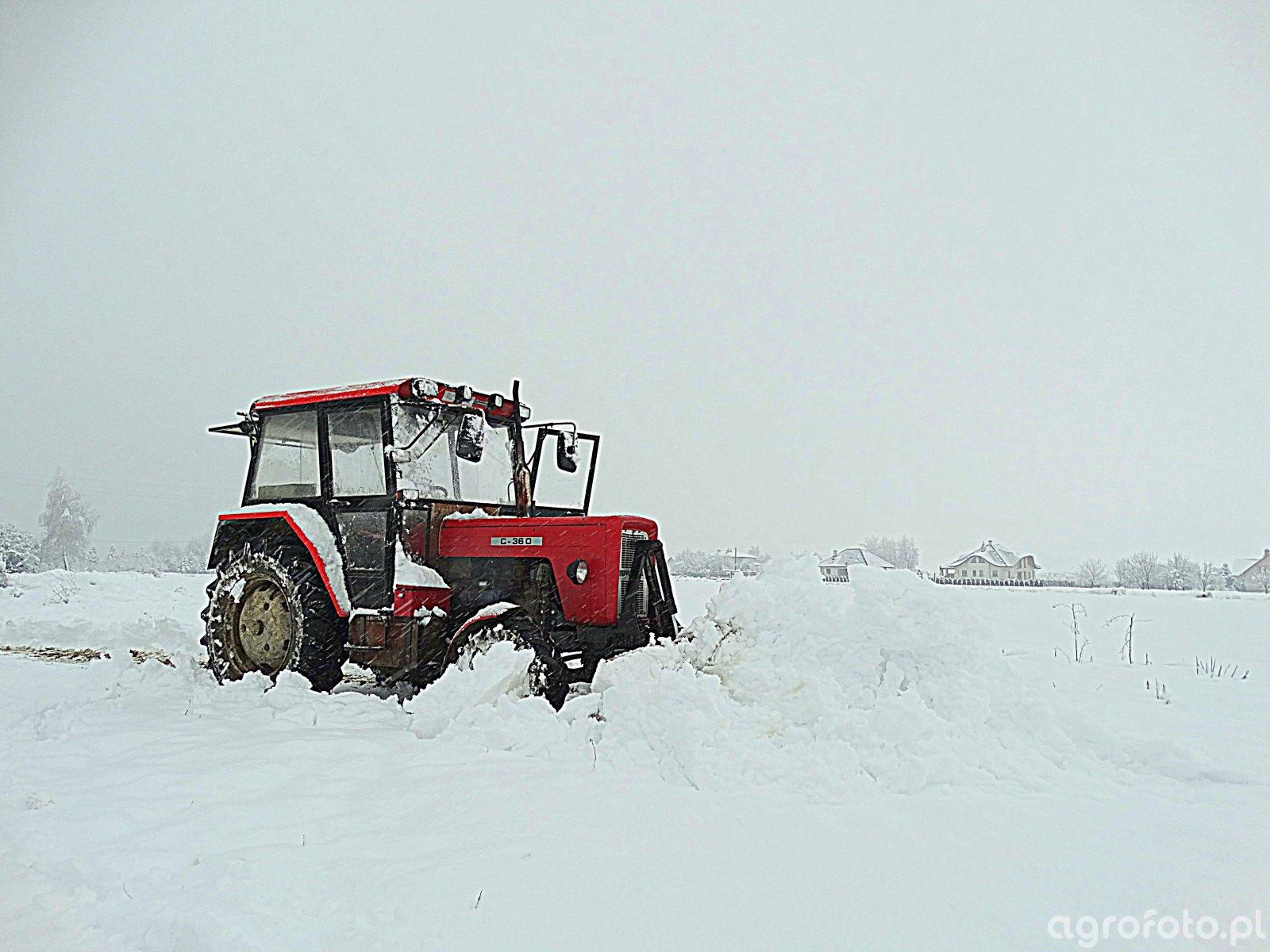 Wybitny Obraz ciągnik Ursus C-360 & Pług do śniegu id:714367 - Galeria RD27