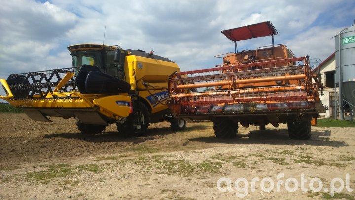 New Holland TC5.70  & Bizon Super ZO56