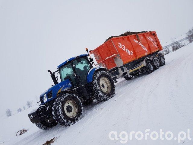 New Holland t6070 & Skorupa 33m3