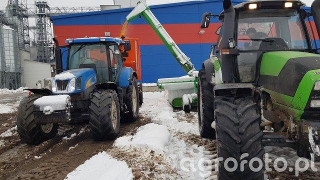 New Holland T6070 skorupa & Deutz-Fahr M600 i arkon