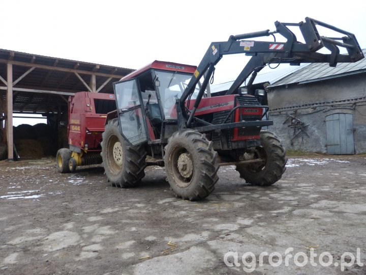 Ursus C-385 Turbo + Prasa rolująca New Holland 644