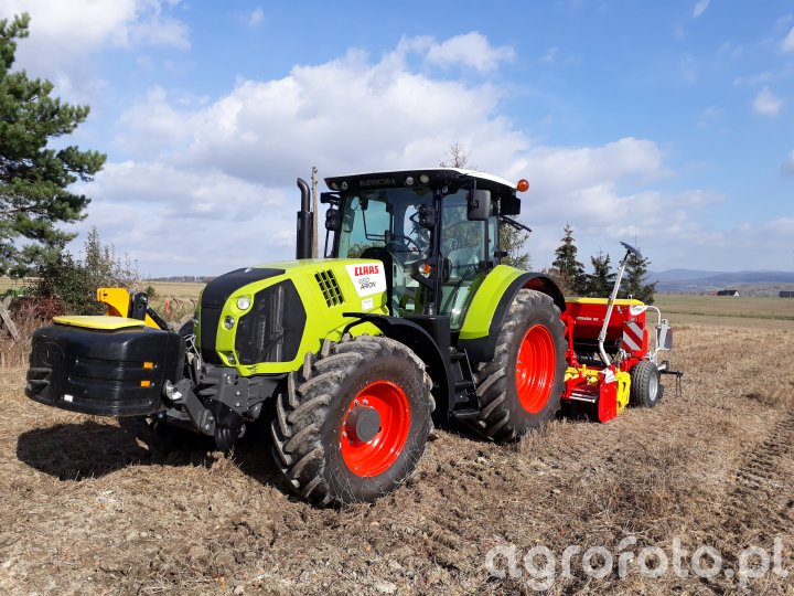 Claas Arion 650 + zestaw pottinger