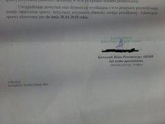 Pismo z ARiMR