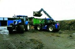 New Holland T6050 PC + Unia Tytan & New Holland LM5060