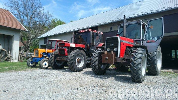 MF 698 & Ursus c-330 & Case 1056xl