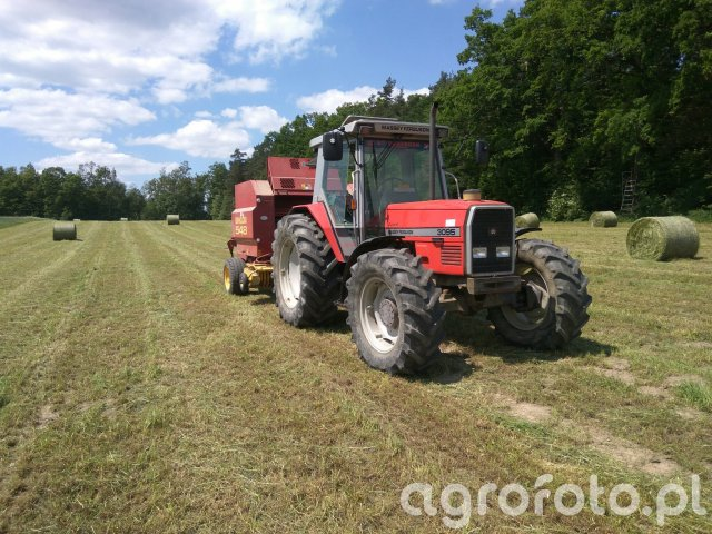 Massey Ferguson 3095 + New Holland 548