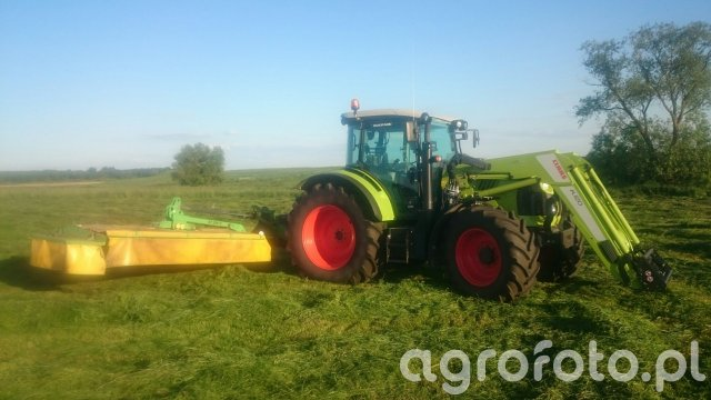 Claas Arion 430 Cis + Samasz KT 300 H