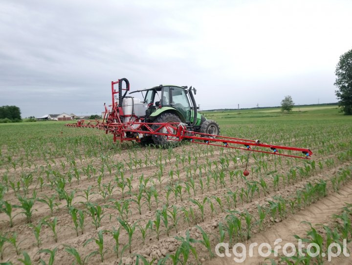 Deutz Fahr Agrotron 80 + Unia Lux 815