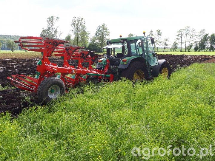 John deere 6600 & Agro-Masz PO4