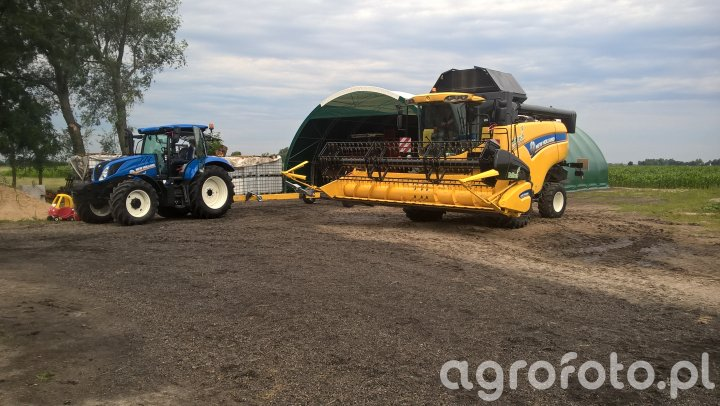 New Holland CX 5080 + New Holland T6.155