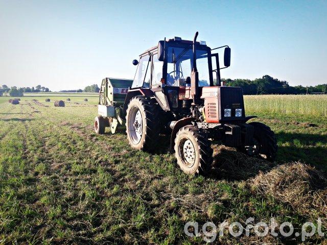 Belarus 820 & Claas Rollant 44