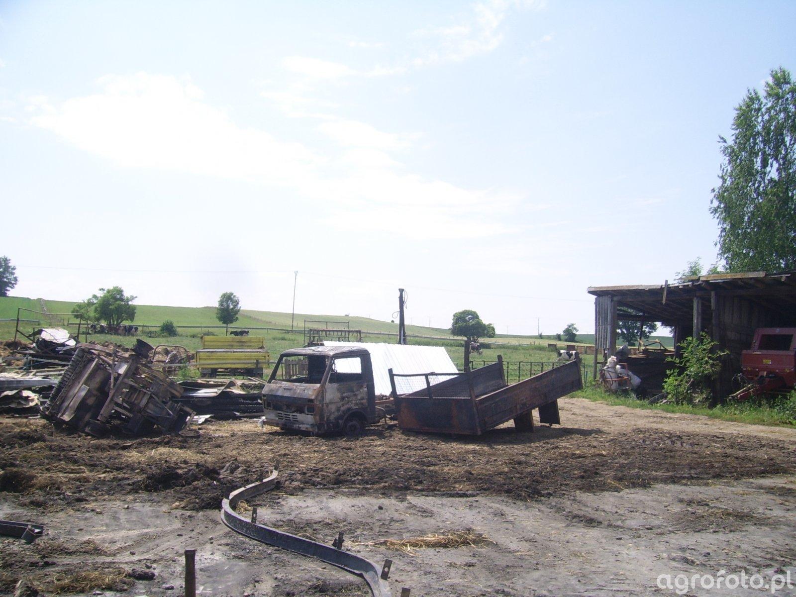 Lt 55 oraz Prasa K-442 po spaleniu