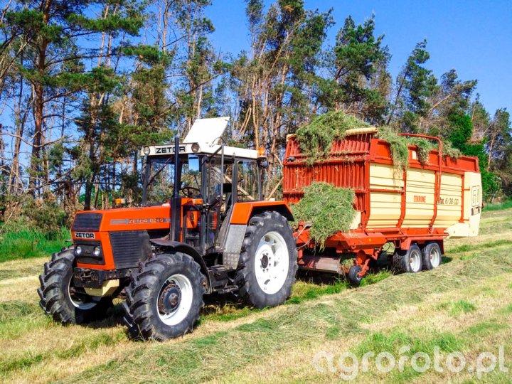 Zetor 8245 + Krone 36/6 GD