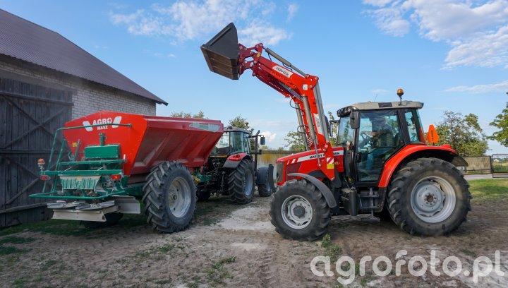 Massey Ferguson 5435/5455 + AgroMasz Rewo 8200