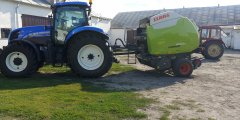 New Holland T7.185PC & Claas Variant 460 RC Pro