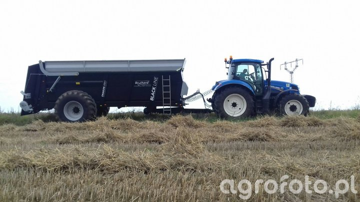 New Holland T6.175 + Brochard Dragon 2001 Black Line